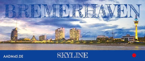 Produktbild Bremerhaven Skyline Fototasse abgewickelt