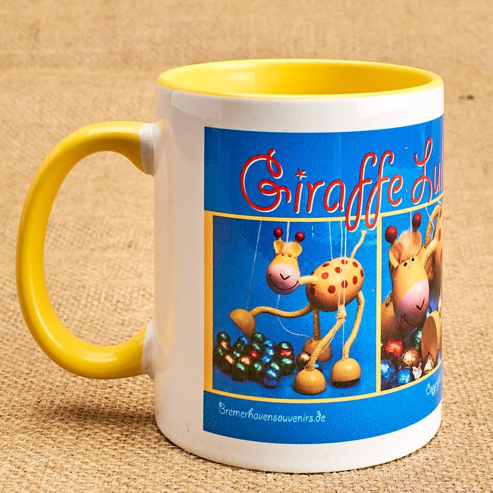 Fototasse alle vier Motive Giraffe Lulu
