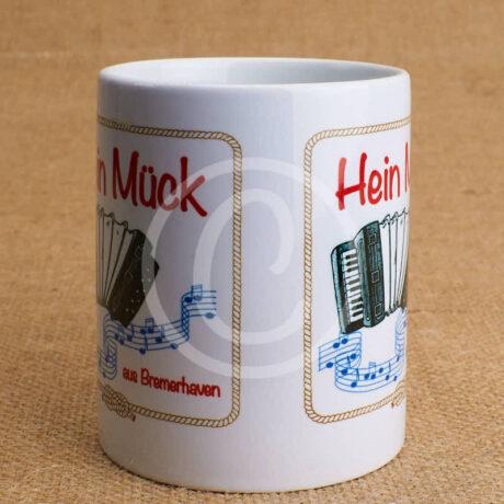 Fototasse »Hein Mück aus Bremerhaven mit Akkordeon«