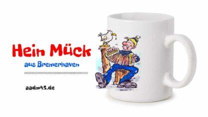 Produktbild Fototasse »Hein Mück aus Bremerhaven 2« – Karikatur von Heinz Glaasker © 2021 rechts