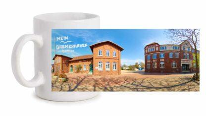 Produktbild Fototasse Mein Bremerhaven Altwulsdorfer Schule © 2021 links