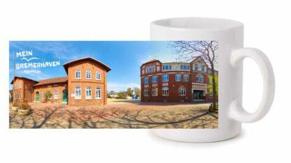 Produktbild Fototasse Mein Bremerhaven Altwulsdorfer Schule © 2021 rechts