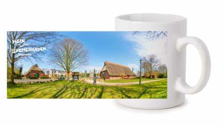 Produktbild Fototasse »Mein Bremerhaven Wulsdorfer Buernhus« © 2021 rechts