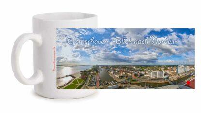 Fototasse »Bremerhaven Blick nach Norden«