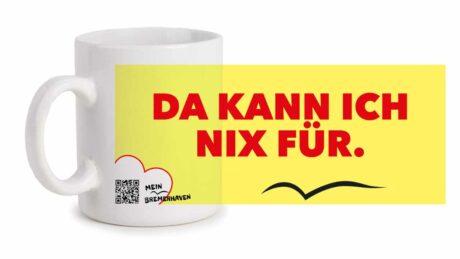 Produktbild Fototasse Bremerhavenschnack »Da kann ich nix für« © 2021