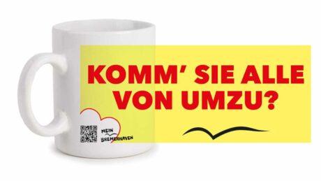 Produktbild Fototasse Bremerhavenschnack »Komm sie alle von umzu?« © 2021