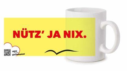 Produktbild Fototasse Bremerhavenschnack »Nütz ja nix« © 2021
